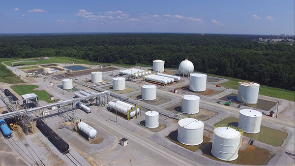 Aerial View of the Tank Farm